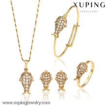 62848-Xuping Copper Alloy Mejor diseño de oro Baby Jewelry Set