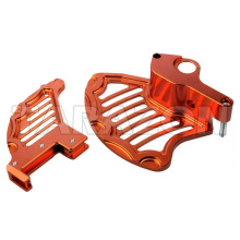 MX bike offroad aluminum front and rear disc guard for KTM