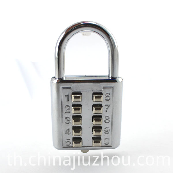 10 Button Mini Travel Luggage Lock