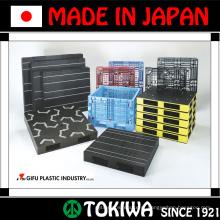 Variedade de paletes com alta qualidade e peso leve pela Gifu Plastic Industry. Feito no Japão (palete de plástico reforçado com aço)