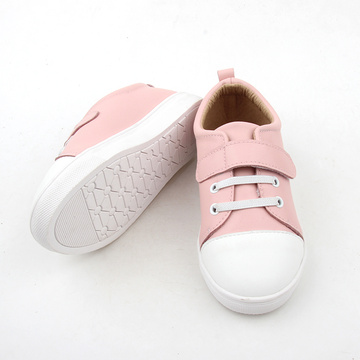 Zapatos de bebe Causal de color rosa y blanco