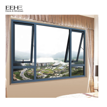 China Factory billig Aluminium Badezimmer Markise Fenster Designs