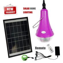 Portables minis lumière kits solaires, led mini ampoule solaire, mini système solaire