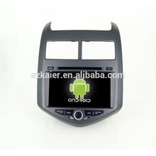 Android 4.4 Mirror-link TPMS DVR 1080P DVD de cuatro núcleos del coche con gps para Chevrolet AVEO Bluetooth / TV / 3G