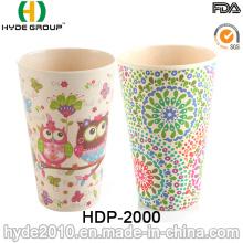 Copo de fibra de bambu Eco-Friendly elegante personalizado (HDP-2000)