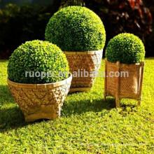 Decorative Plastic Artificial Boxwood Grass Ball