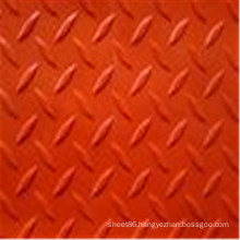 Anti-Slip Red Colored Checker Rubber Sheet