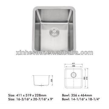 Single bowl undermount Stainless Steel Sink