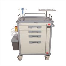 Medical Trolley Treatment Trolley Cart  ABS plastic Hospital Emergency Trolley