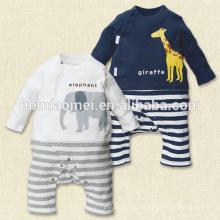 La primavera infantil outwear el mameluco suave del paño grueso y suave del bebé del onesie del bebé con la manga larga