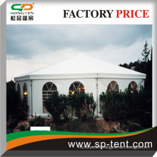 octagon tent with luxury linings for wedding party events