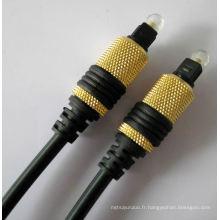 Capot métallique Toslink câble (YL-T01)