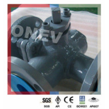 Wcb/ Stainless Steel Three Through Flanged Ball Valve