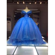 1A50 Vestido de noche del príncipe de la falta de definición de la parte posterior de Sexu de los vestidos de Azul de la alta calidad