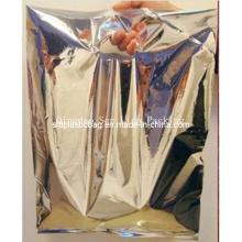 Wholesale Silver Color Die Cut Christmas Gift Packaging Bag