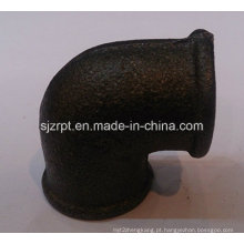 """1/2 """"Malleable Iron Pipe Fittings Beaded Cotovelo Preto Sem Costelas"""