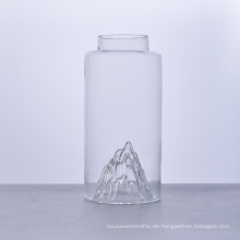 Mountain Bottom750ml Leere Glasflasche mit Korkdeckel
