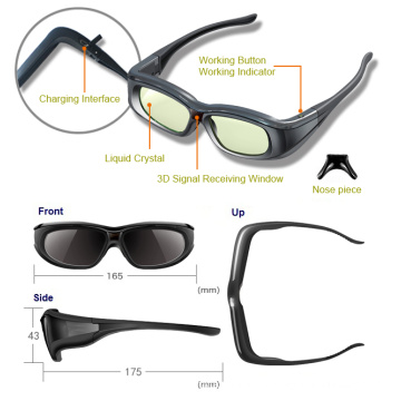 Bluetooth Active Shutter 3D Glasses for Sony / Panasonic TV (YLC-G01)