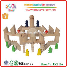 EZ1106 stocked 108 pieces Solid Wood Rome Style Kids Big Building Blocks