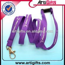 Purple color fashion cheap women's lanyards