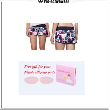 Custom Logo Stretch Fabric Fabricantes Lycra Pantalones cortos hermosos