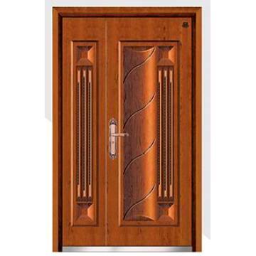 Стальные-деревянные бронированные двери
