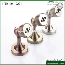 zinc alloy magnetic furniture door vein stop