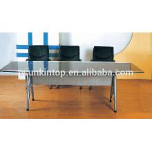 Mobiliário de mesa de vidro moderno, móveis de escritório de alta qualidade para alta qualidade! (P8097)