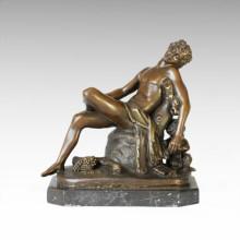 Mythology Statue Dionysus/Bacchus Sleeping Bronze Sculpture TPE-104