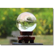 Boule en verre transparent moderne simple en cristal