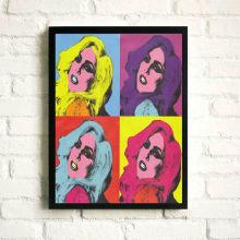 Impresión del cartel de la señora Gaga