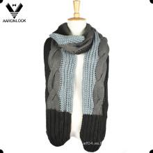 2016 nuevo patrón único de la bufanda del Knit del cable de la manera
