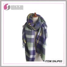 Yiwu Factory Sale Jacquard Print Tartan Scarf Pashmina Scarf Cashmere Scarf