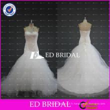 ED Bridal Real Sample Sweetheart Lace-Up Back Beaded Tulle Robe de fête de mariage
