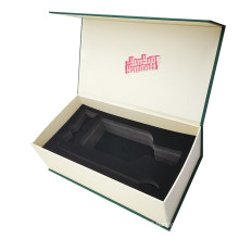 Recycled Custom Flip Lid Logo Wine Bottle Pulp Paper Box with Magnet