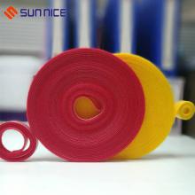 Ruban de fixation réutilisable double rouleau de sangle de liaison de câble de boucle de crochet