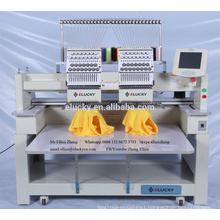 computerised embroidery machine with 2 heads high speed