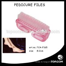 Pediküre-Fußbürste aus Kunststoff und Bürste