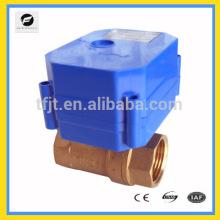 Vannes électriques de cotrol de l'angle 2-voies DC9-24V avec 0,30,60,90 degrés pour l'équipement d'irrigation, équipement d'eau potable