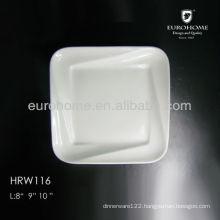 10.5 ceramic dinner plate in restaurant