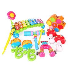 El nuevo diseño 6PCS Baby Orff Instruments fijó los juguetes preescolares musicales para los niños