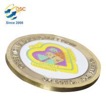 En gros 3D Antique Personnalisé Personnalisé Coin Design Design Votre Propre Coins Antique Pièces