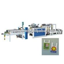 Duplo-canais de alta velocidade, heat-sealing máquina de fazer saco de película plástica de linha de produtos calor-corte
