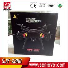 SJY-X8HG GPS drone con 5.8G Pantalla FPV función de bloqueo alto similar motor sin escobillas baja protección de la batería PK H501S Syma X8HG