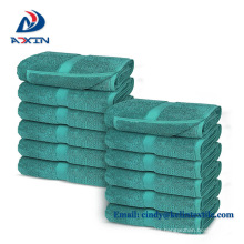 Hotel supplies cheap promotional solid color hand hotel towel 30x30