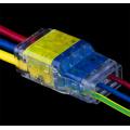 Conector Quick Wire de duas vias para iluminação LED