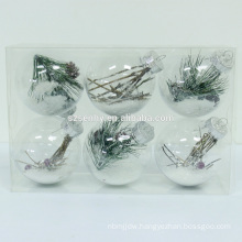 Clear plastic Christmas led lighted PET ball with lights