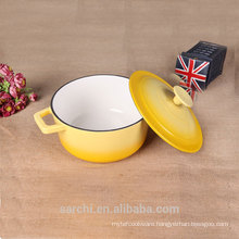hot sale new product enameled small size soup pot for family