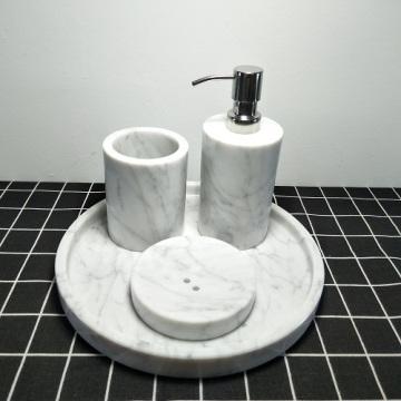 Marmor Badzubehör Set