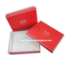 Caixa de papel de presente de cosméticos high-end com estampagem de folha de prata